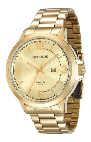 Relógio Masculino Analógico Seculus 28660gpsvda2 Dourado