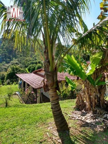 Linda Chácara Com Pomar, Arborizada, Casa Ampla Com 02 Dormitórios À Venda, 4000 M² Por R$ 460.000 - Socorro/sp - Ch0660