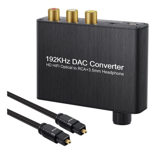 Autoutlet 192khz Dac Convertidor Digital Audio Decoder-óptic