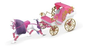 Carruagem Real Para Princesa Barbie Rosa C/ Frete Grátis