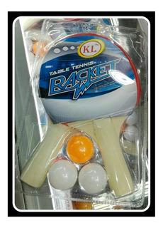 Raquetas De Ping Pong+3pinpones
