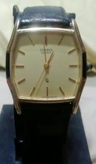 Elegante Reloj Citizen Enchapado Colección