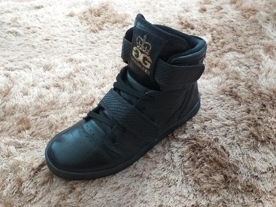 Tênis Sneaker Double G Croco Original Semi-novo