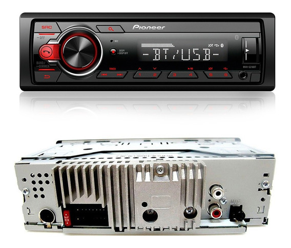 Som Automotivo Mvh-s218bt Pioneer Bluetooth Fm Usb Mp3 Aux