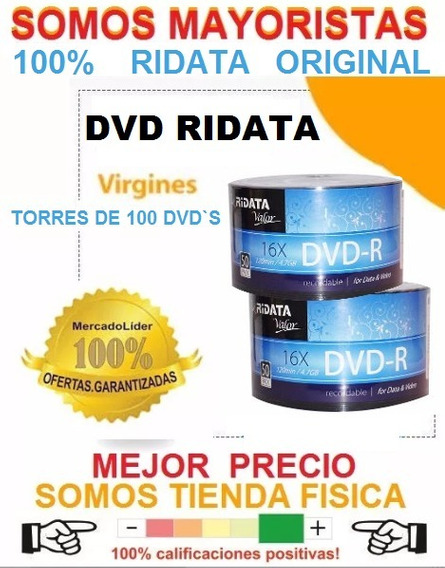 Dvd Virgen Ridata Valor Original Dvd-r 16x 120min 4.7gb
