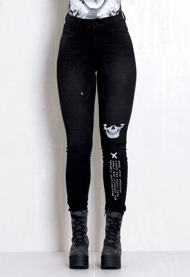 Calça Jeans Skinny Feminina, Calça Jeans Rock Code,