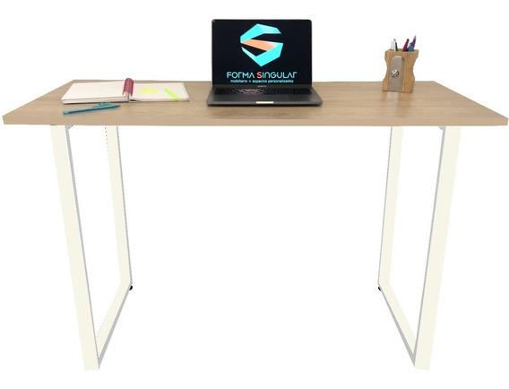 Escritorio Para Computador Moderno Mesa Madera Estudio Hogar