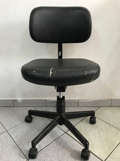 4 Cadeiras Escritório Giratória Usada Barata, Boa Estrutura