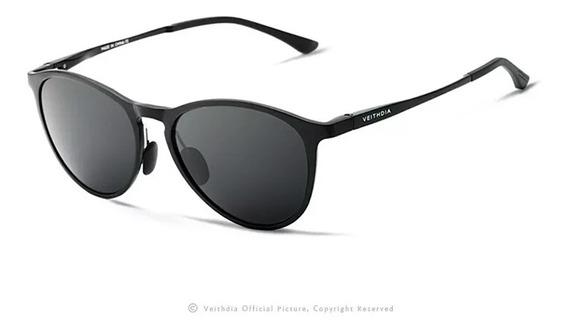 Óculos De Sol Masculino Feminino Redondo Polarizado Uv400