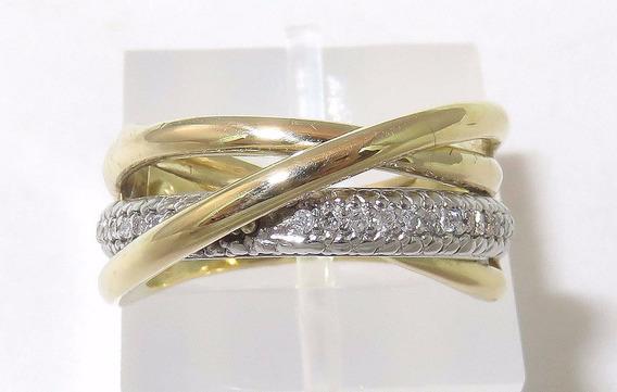 Pocao2005- Anel Ouro 18k750 Pave Diamantes Grife Vivara 750