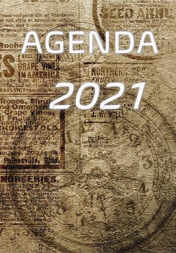 Imagem 1 de 4 de Agenda 2021  Vintage Relógio