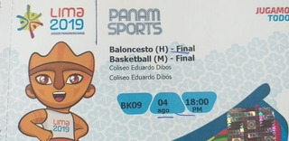 Entradas Final Baloncesto Hombres Panamericanos (c)