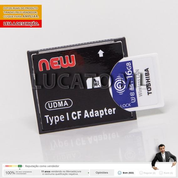 Adaptador Compact Flash + Cartão Sd Wifi 16gb W04 Toshiba Ap