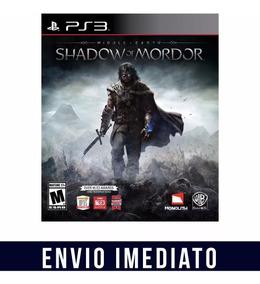 Shadow Of Mordor Middle Earth Ps3 Psn Envio Agora