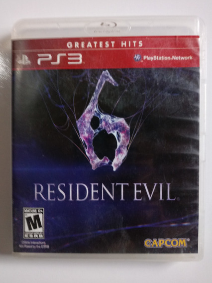 Jogo Resident Evil 6 Original Ps3 Playstation 3 Física