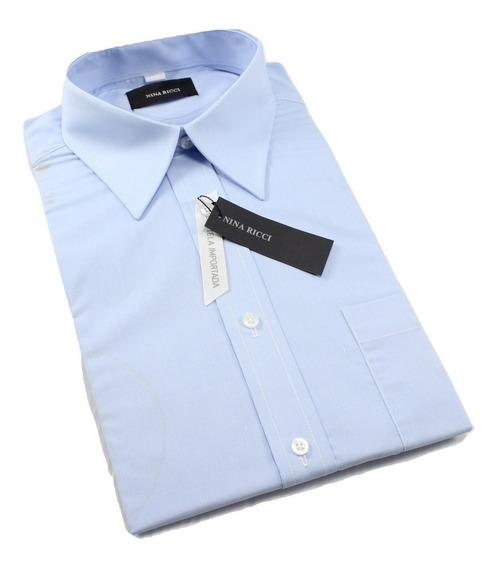 Camisa Hombre Azul Cielo Nina Ricci Talla 38 (ver Detalle)
