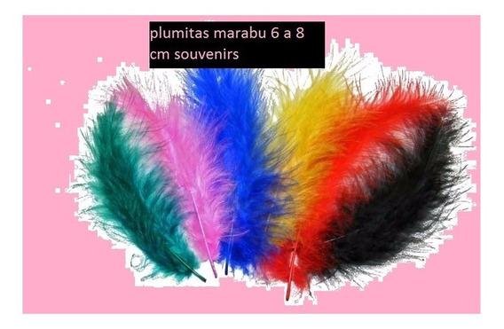 Plumas Marabu Pequeñas Cotillon Souvenirs Por 50u