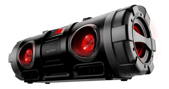 Caixa De Som Boombox Bazooka Bluetooth 80w Multilaser Sp218