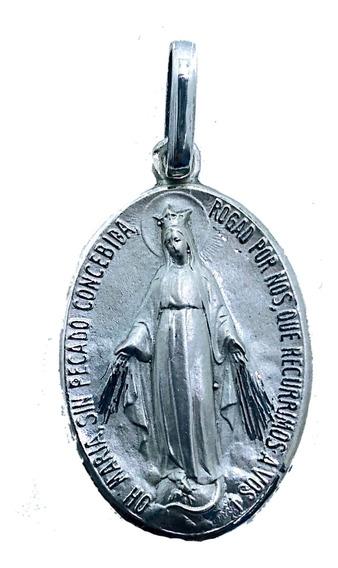 Medalla Virgen Milagrosa Plata 925 # 1257 Bautizó Comunión