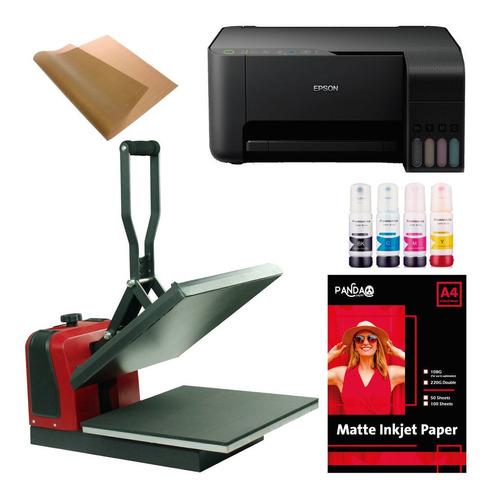 Maquina Estampar Remeras Impresora Sublimacion+tintas +papel