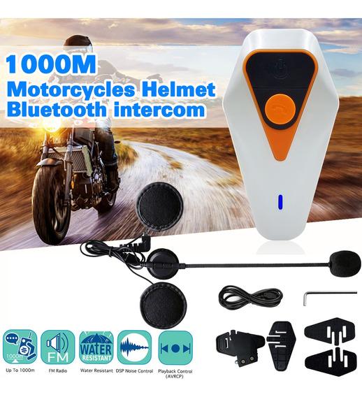 1000 M Motocicleta Capacete Interfone Bluetooth Interfone À