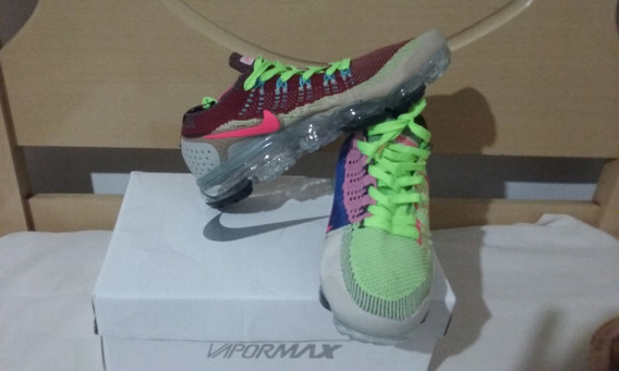 Tenis Nike Vapormax Flyknit 3 Vinho E Verde Nº39 Original!!