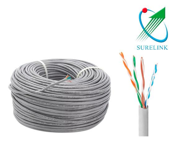 Cable Utp Cat6 Surelink Cobre 50 Mts Tienda Bagc