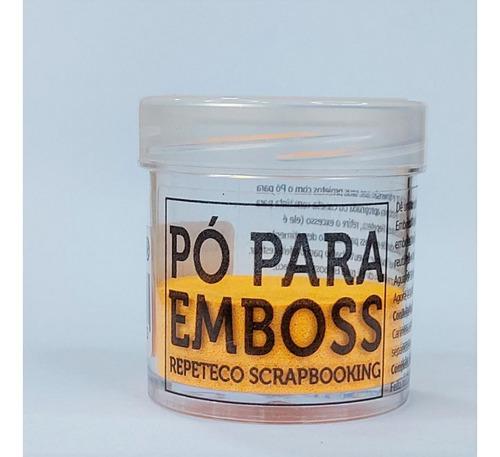 Imagem 1 de 1 de Repeteco - Pó Para Emboss Opaco - Cor Laranja - 14gr