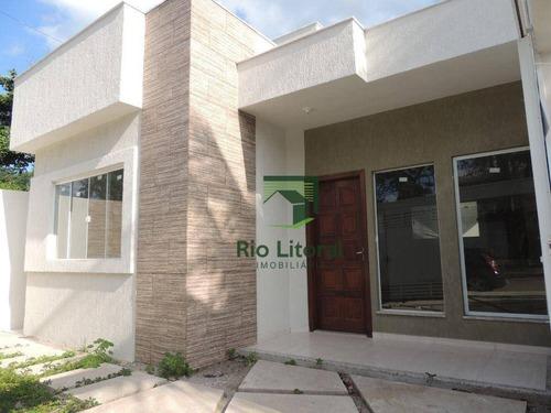 Casa Com 2 Dormitórios À Venda, 65 M² Por R$ 295.000,00 - Ouro Verde - Rio Das Ostras/rj - Ca1062