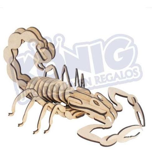 Imagen 1 de 3 de Rompecabezas 3d, Figura Escorpión Armable, Coleccionables