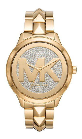 Relógio Michael Kors Feminino Runway Mercer Preto Mk6714/1dn