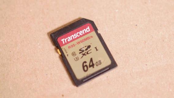 Cartão Sd Transcend 64gb Class 10 Sd Xc U3