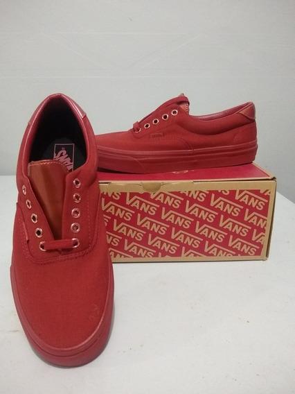 Tenis Vans Era 59,color Rojo Carmesí, Talla 28