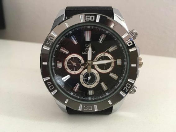 Relógio Masculino Original Luxo Esportivo Prata