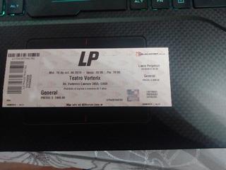 Entrada Lp-16 De Octubre-teatro Vorterix