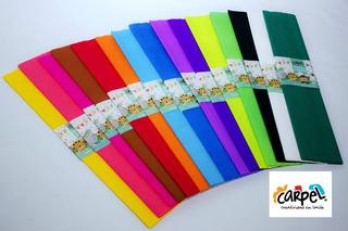 Papel Crepe 50x200 Mts X10u Variedad De Colores