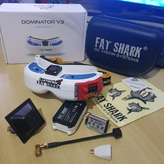 Fatshark Dominator V3 +módulo Furious Achilles+ Antenas Top