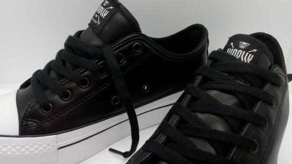 Zapatillas Con Plataforma Woolly Leather Black Star