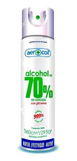 Alcohol 70% Aerosol 360cm (pack X12u) Barata La Golosineria