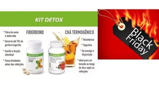 Kit Detox Queima Gordura Emagrecedor Herbalife Fiberbond