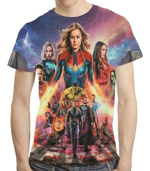 Camisa Avengers Camiseta Ultimato Thanos Vingadores Endgame