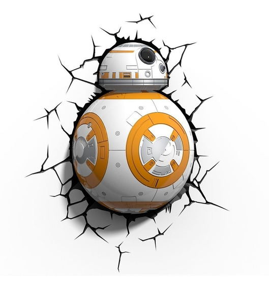 Star Wars Episódio Vii - Luminária 3d Light Fx Droid Bb8