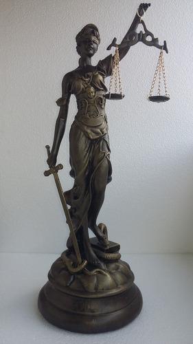 Dama Justicia Ciega Dorada Grande, Regalo, Obsequio, Arte