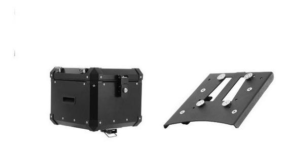 Kit Bau Roncar Top Case 35 Litros Tiger800 + Base De Fixação