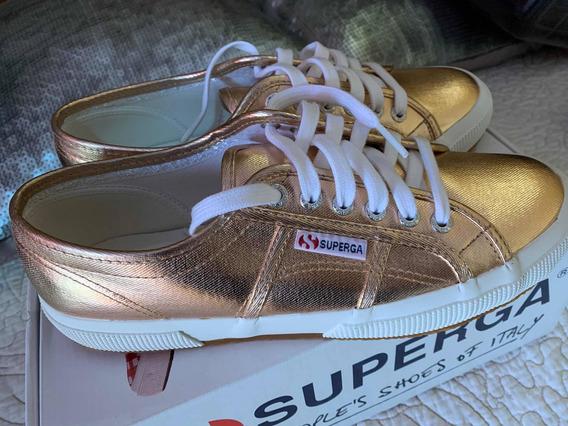 Zapatillas Superga Rose Gold Metalizadas 39 Nuevas!