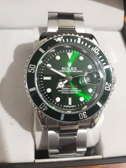 Relógio Masculino Submariner Verde Prata + Verde Prata