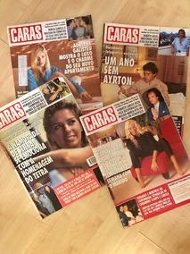 Lote De 4 Publicações Caras Adriane Galisteu Airton Senna