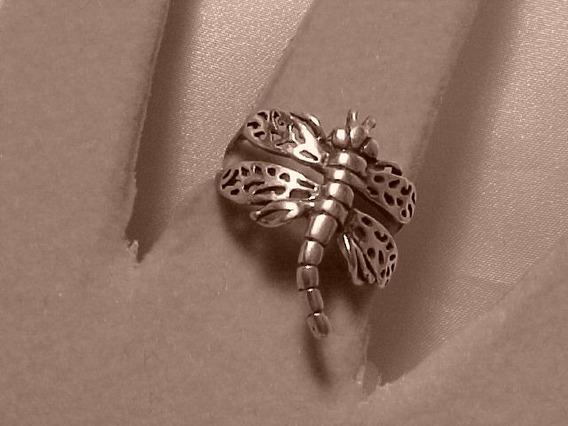#ap211268n - Anel Mariposa Em Prata 925 Tipo Bali