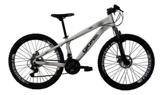 Bicicleta Aro 26 Frx Freeride 21 Velocidades Branco Gios