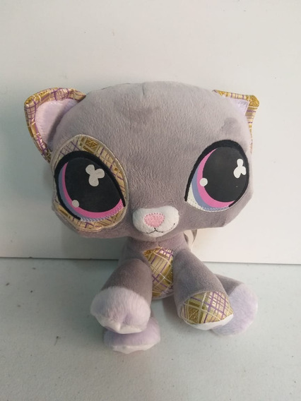 Pelucia Littlest Pet Shop Cat Gato Cinza